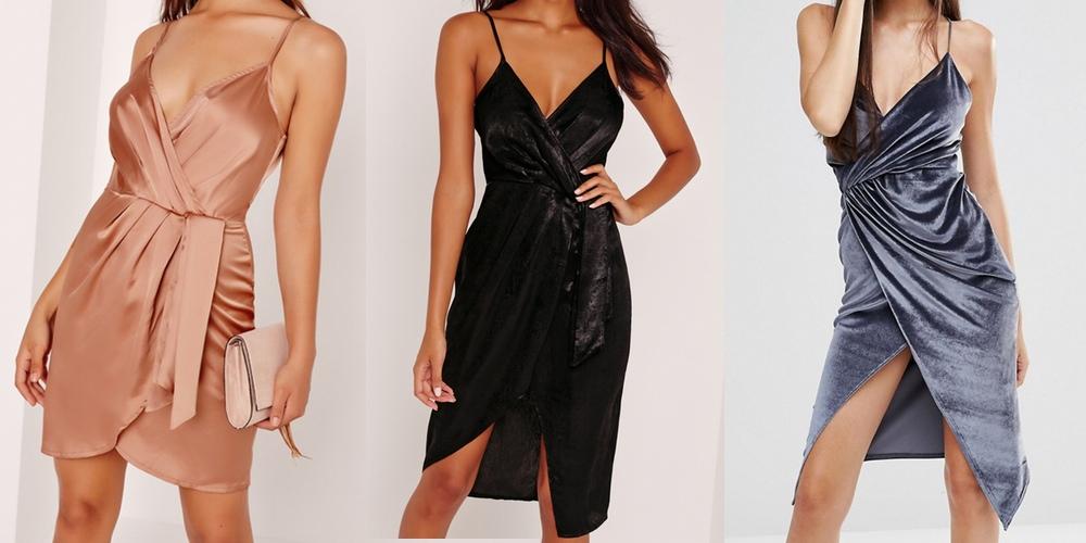 slinky satin & velvet dresses