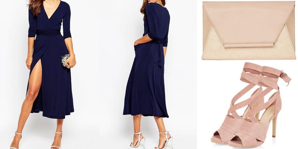 navy wrap maxi dress